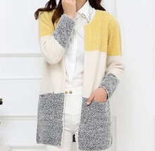Hot Women Sweaters 2016 Autumn Winter Casual Cardigan Fashion Knitted Solid Slim Lovely Sweaters Elegant Candy Colors Cardigans(China (Mainland))