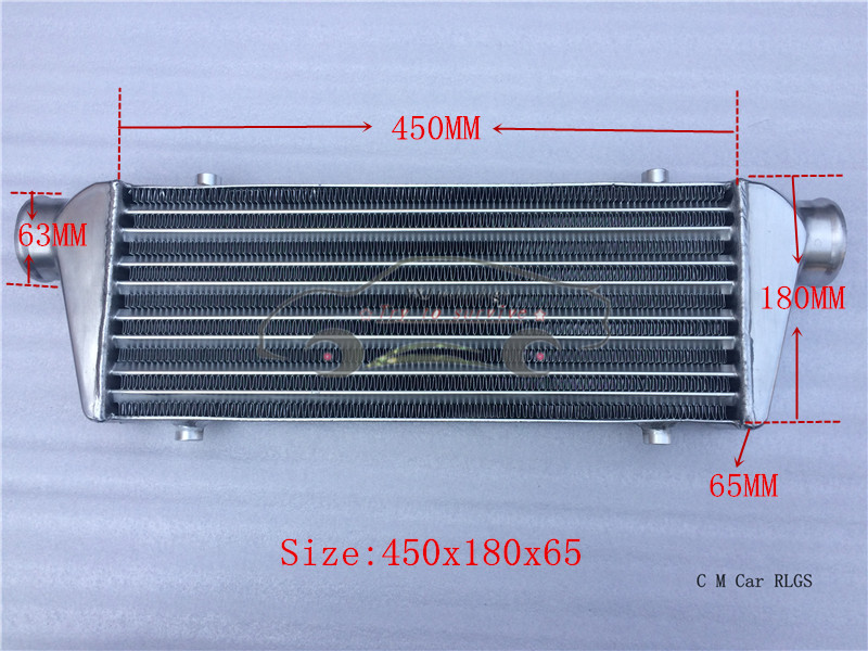 size:450 x 180 x 65 mm,Car modification power suite tank, intercooler, AIR COOLER, AFTERCOOLER is suitable for all Car models(China (Mainland))
