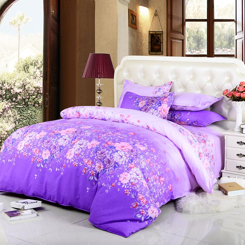 Ykf Home Bedding Set 100 Polyester Duvet Cover Flat Sheet