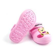 קבקבי דה Jardin אמיתי 2019 חדש ילדי של מערת נעלי Tow ג 'לי נעלי בית Eva כפכפים לסביבה ידידותי גן ילדים חורים(China)