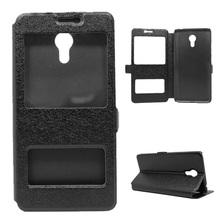 Buy Meizu m3 note Silk Grain Dual Window Leather Flip Case Meizu M3 Note / Blue Charm Note3 Black for $2.62 in AliExpress store