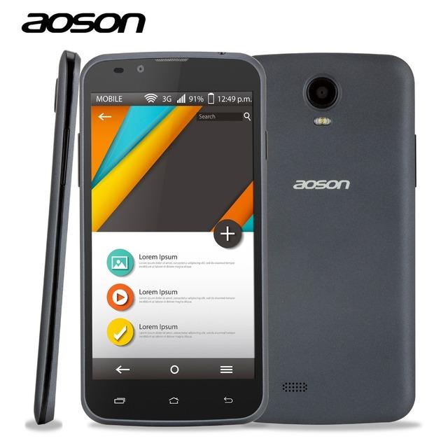 Оригинал Дешевые Продажа MTK6572 Android 3 Г Разблокирована Смартфон Aoson G506 Dual Core Cam 5MP Dual Sim 5 Дюймов Мобильный Телефон белый/Серый
