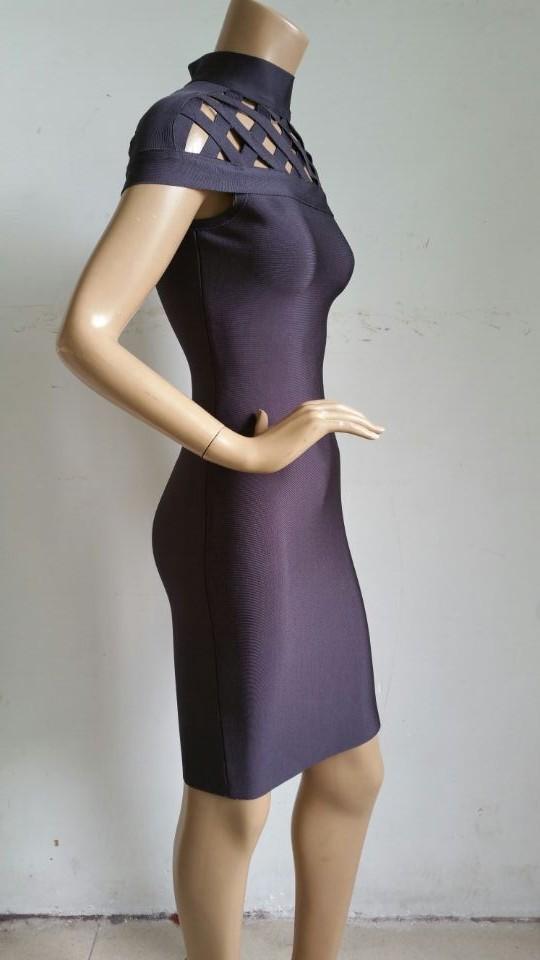 2015-new-fashion-dark-gray-black-gray-high-neck-cap-sleeve-women-fashion-sexy-elegant-mini (2)