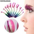 10pcs Set Oval Toothbrush Make Up Brushes Set Foundation Power Brush Tool Colorful Pink Soft Makeup