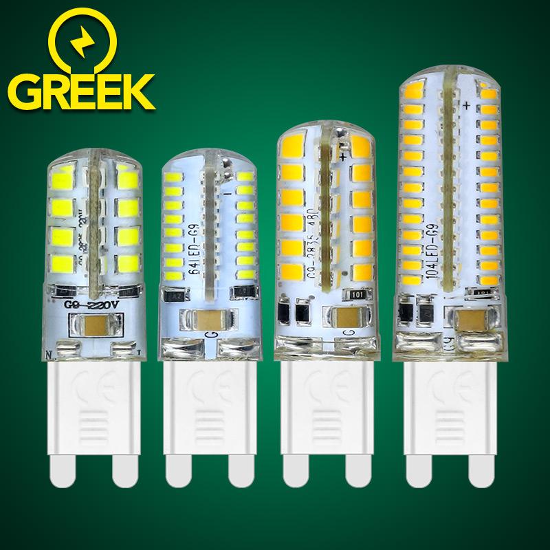 Quality G9 Led corn bulb 220V 110V Energy Saving Led G9 lamp Cold Warm white light Replace G9 halogen lamp Led SMD2835 3014 5730(China (Mainland))