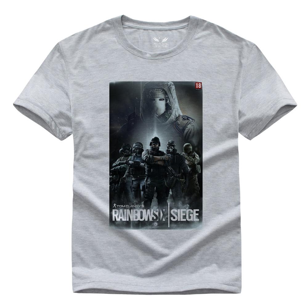 Rainbow six siege t shirt mens womens cool t shirt for Custom fashion t shirts