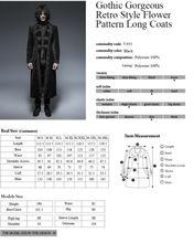 Long Black Velvet Gothic Steampunk Jacket