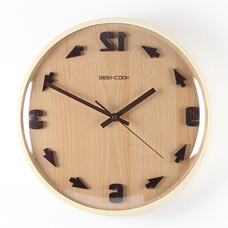 Creative Large Decorative Wall Clock Modern Design round Quartz Mirror wood Clocks time return watch V72 - Pet World store