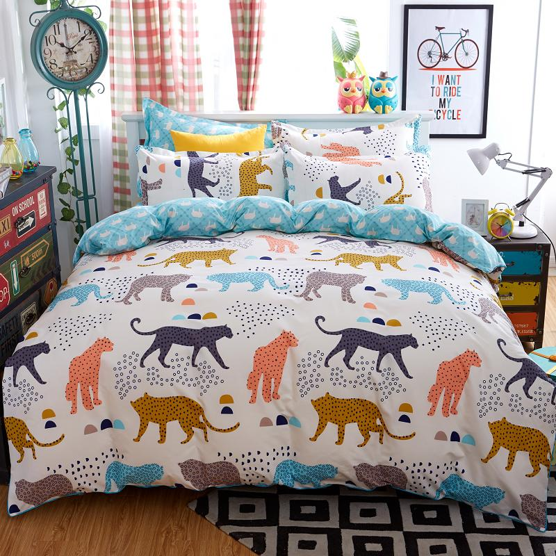 Home textile bedding-set home textiles bed set new style flower animal duvet cover bedspreads 4pcs/set queen size without quilt(China (Mainland))