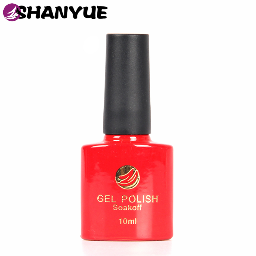 Free Gift 72 Colours UV Gel Nail Polish Sapphire Base Color Paint Soak Off French Manicure Vernis Gel Lak Nagellack SHANYUE 10ml(China (Mainland))