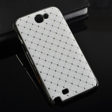 For Samsung galaxy Note II N7100 bling rhinestone luxury fashion back Case hard cover for galaxy Note 2(China (Mainland))
