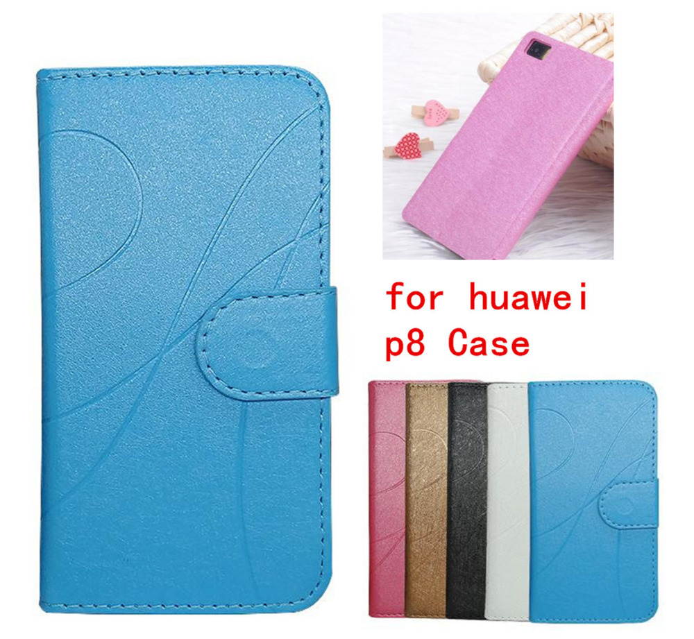 Vintage Design PU Leather Case for huawei p8 Stand Wallet Card Slot Photo Frame Mobile Phone Cover for huawei p8 Case(China (Mainland))