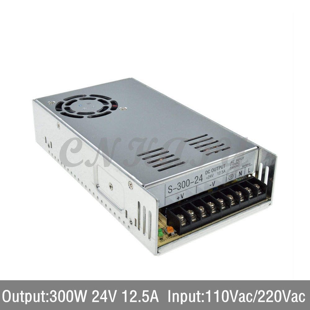 AC110/ 220V to 300W 24Vdc 12.5A LED Driver single output Switching power supply Converter for LED Strip light express shipping<br><br>Aliexpress