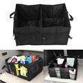 Black Folding Car Storage Boxes Travel Trunk Glove Bag Organizer Tools Toys Storage Holder Bin Cubes