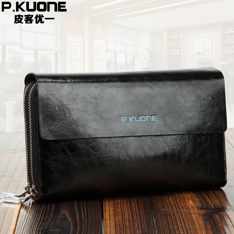Maxwell New High Quality Black Coffee Blue Color Excellent Real Genuine Leather Men Clutch Wallet Bags