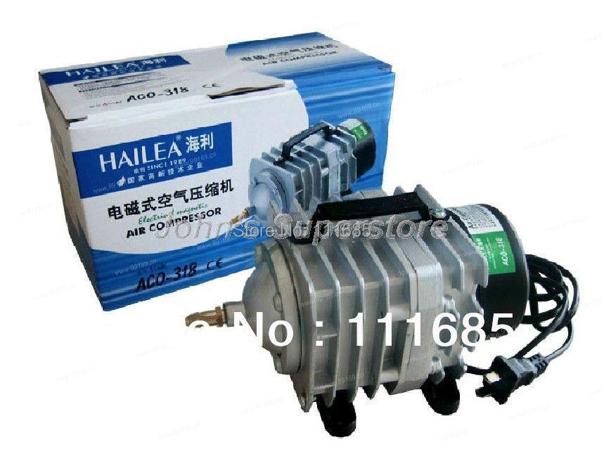 Free Shipping, Top Sale Aquarium Air Pump 70L/min 45W Hailea ACO-318 Electromagnetic Air Compressor, Fish Tank(China (Mainland))