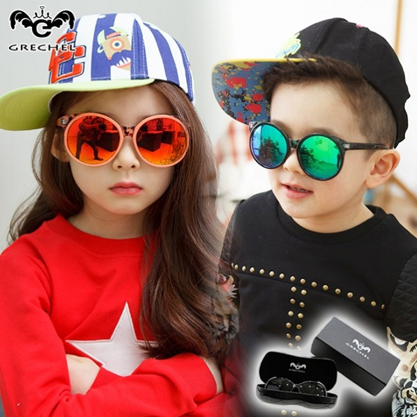 girls goggles wjzi  Retro resin sunglasses Children boys girls sun glasses Kids all match  sunglass Cool handsome goggles boys