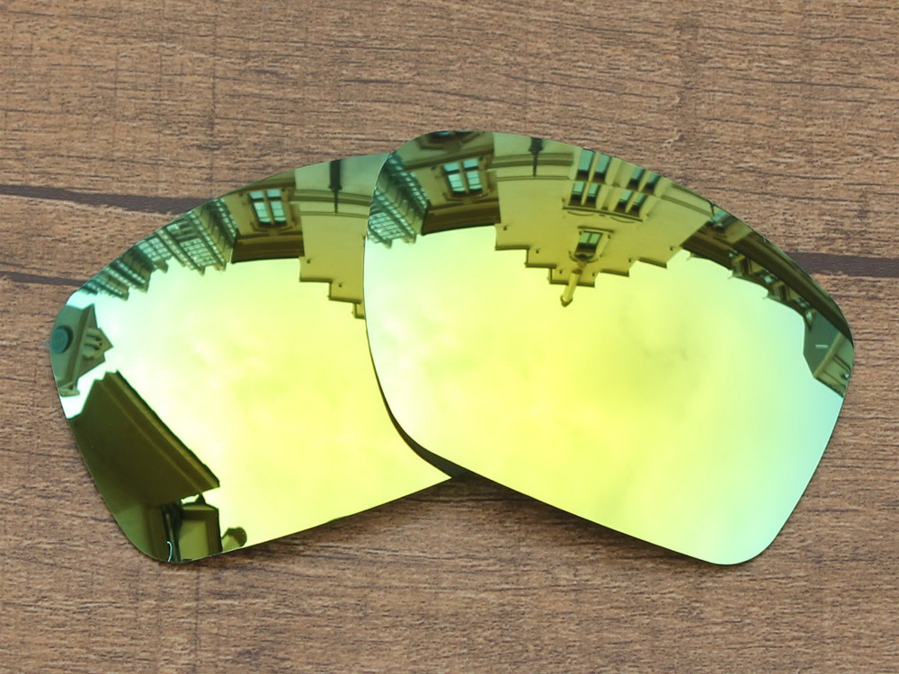 24K Golden Mirror Polarized Replacement Lenses For Big Taco Sunglasses Frame 100 UVA UVB Protection