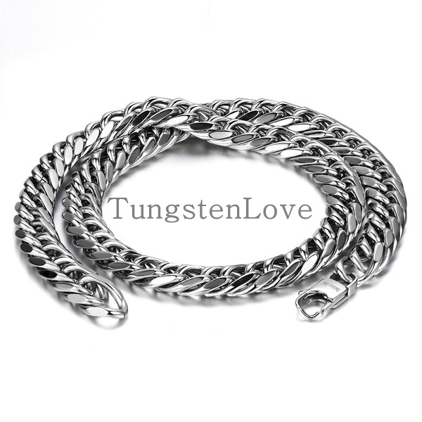 Durable 12mm wide heavy large big men stainless steel for Stainless steel jewelry durability