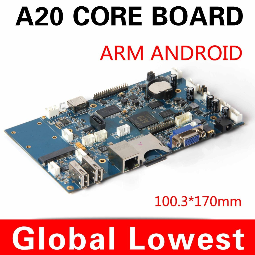 Hot on sell  New mini main board allwinner A20 1.0ghz motherboard with TF/SD card/ wifi Support 1080P<br><br>Aliexpress