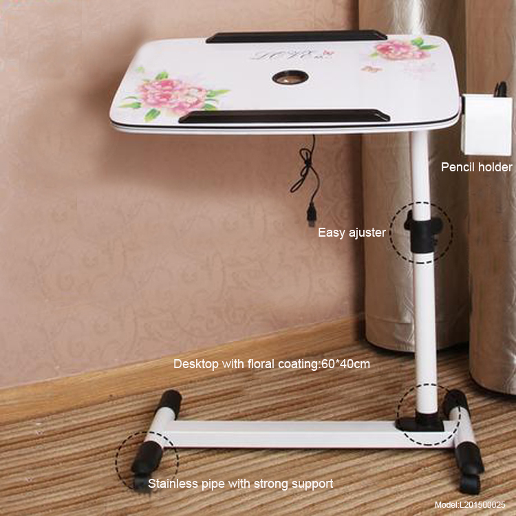 2015 New Arrival Metal Standing Desk Laptop Stand Table For Modern SOHO Moveable Work Hot Sale(China (Mainland))