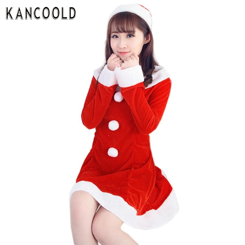Garment Women Sexy Cute Santa Christmas Costume Fancy Dress Xmas Office Party Outfit For Lady No7(China (Mainland))