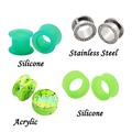 New 2016 Hot sale Ear Plugs Stretchers Acrylic Silicone Stainless steel tunnel body piercings jewelry Ear