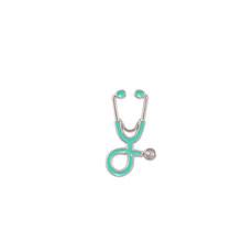 18 colori Stetoscopio Spille Per Il Dottore Oro Argento Dello Smalto del Metallo Distintivo Spilli Collezione Donna Accessori di Abbigliamento Gioielli(China)