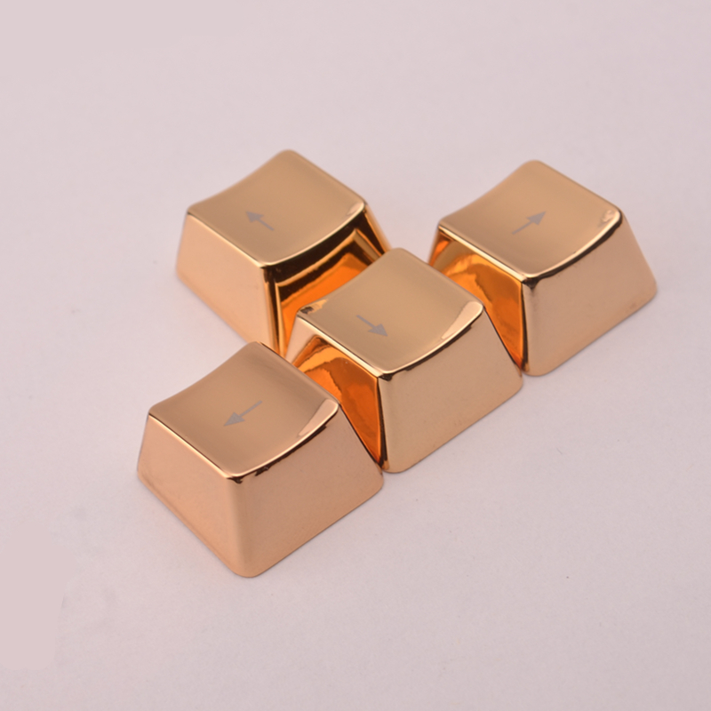 Metal Keycaps Golden Arrow Direction Key Caps For Cherry MX And Kailh Switches Mechanical Gaming Keyboard Keycap(China (Mainland))