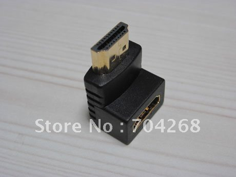 90 degree right angle Gold Plated hdmi male to female adapter 1080p 1080i 720p for LCD monitor HDTV Projector DVD home theater(China (Mainland))