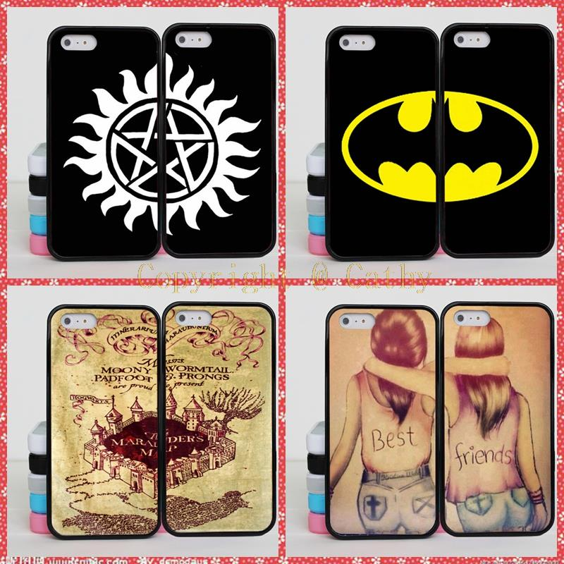 Batman Harry Potter Brain BFF Best Friends Case Apple iPhone 6S Plus Supernatural Mandala 6+ 5.5 inch  -  Cathy(US store Gift Phone Co., Ltd.)