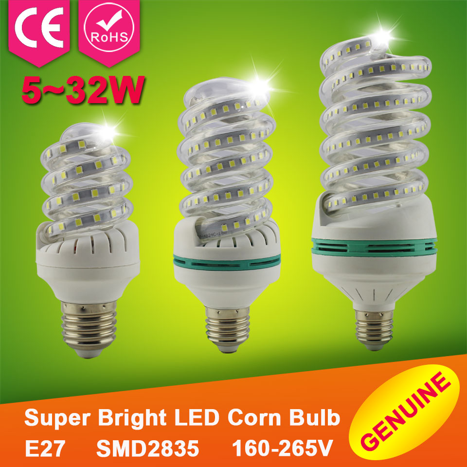 1pcs Led Corn Bulb E27 SMD2835 5W 7W 9W Home Lighting Lampada Led Lamp E27 Energy Saving Led Corn Light Lamp 12W 18W 24W 220V(China (Mainland))