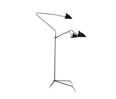 lighting serge mouille three arm floor lamp standing lamp floor lamp. Black Bedroom Furniture Sets. Home Design Ideas