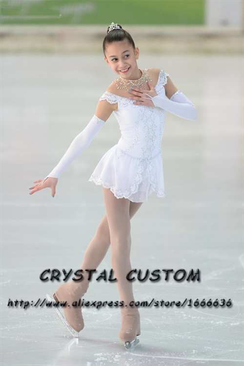 Custom Girls Figure Skating Dresses Graceful New Brand Ice Figure Skating Dresses For Competition Kids DR3751Îäåæäà è àêñåññóàðû<br><br>