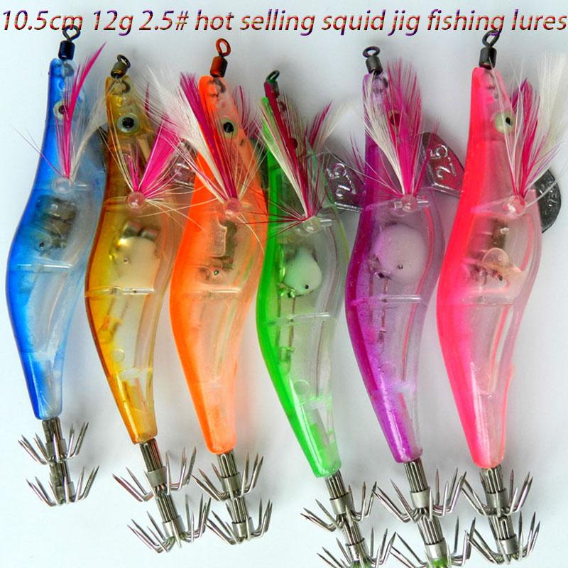 12G 10.5cm plastic #2.5 led shrimp Fishing Lures Electronic Squid Jig carp prawn fishing baits isca pesca tackles - Tong Cheng's store