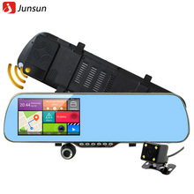 "New 5.0"" Touch Android Radar Detectors dash camera parking car dvrs Rearview mirror video recorder Truck Vehicle gps Navigator(China (Mainland))"