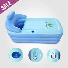 DHL Adult Spa PVC Folding portable Plastic bathtub for adults Inflatable Bathtub size 160cm*84cm*64cm + Foot Air Pump Free Ship(China (Mainland))
