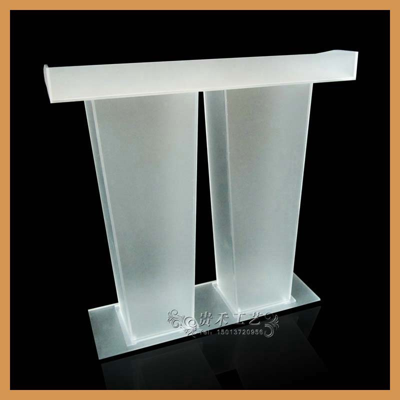 GH-S043 Gui He china factory school furniture stainless steel podium for reception lectern(China (Mainland))