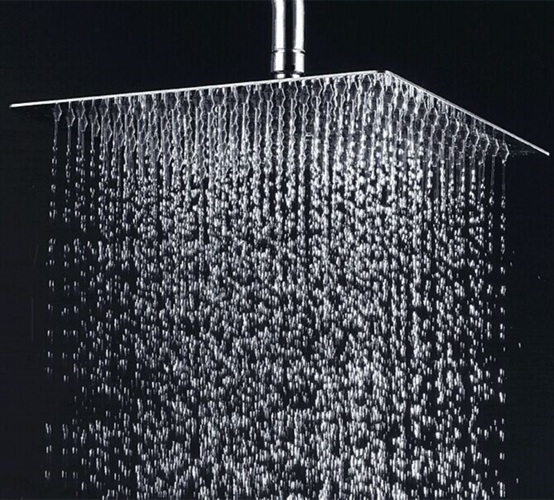 Free Shipping 30CM 30CM Square Round Stainless Steel Ultra thin Shower Head 12 Inches Bathroom Rainfall