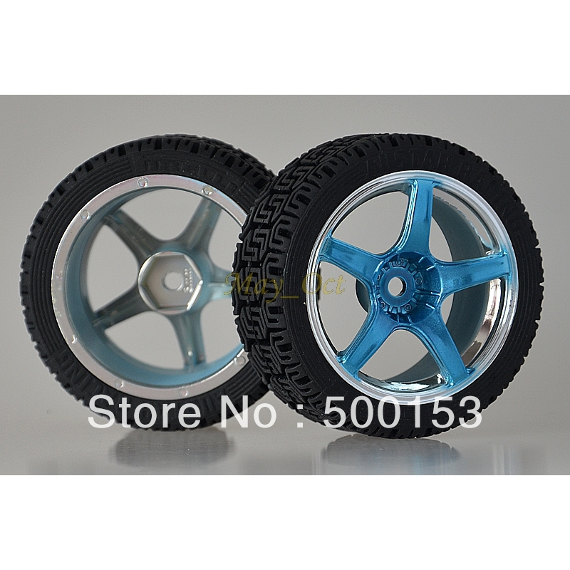 4x RC 1/10 Car On-Road Racing Flat Wheel Rim Tyres,Tires Fit HSP HPI 2060-8014(China (Mainland))