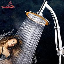 4/6 inch Bathroom Shower Head Round Chrome Ultra-thin Showerheads Rainfall Shower Head Rotate 360 Degrees Hand Held Rain Shower(China (Mainland))