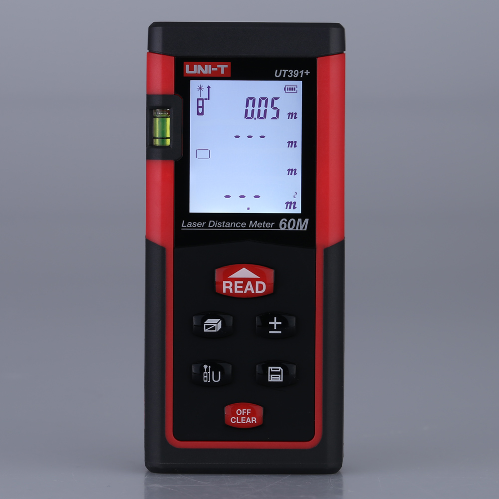 uni t ut391 range finder measure handheld 60m digital laser distance meter distance area volume. Black Bedroom Furniture Sets. Home Design Ideas