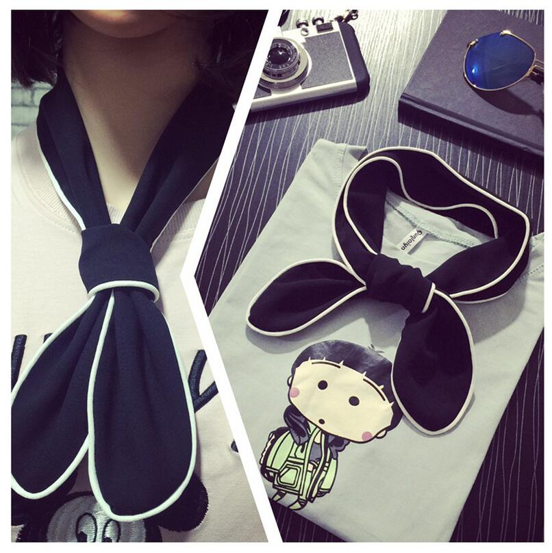 2016 New Hot Sale Korean Style Small scarf spring and autumn cute pendant fashion women Solid Wild silk small scarf(China (Mainland))