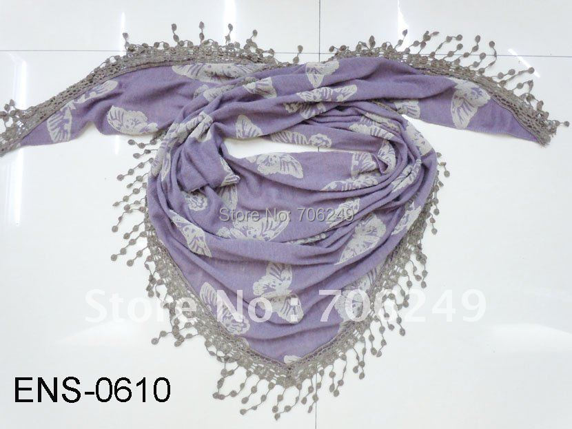 ,triangle scarf,pachwork shawl,butterfly printed scarf,2011 new design - ELLEN FASHION ACCESSORIES store