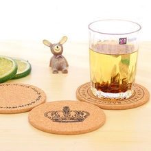 Free Shipping 4pcs Cork Wood Drink Coaster Tea Coffee Cup Mat Table Decor Flexible Table Heat Resistant Round Drinks Mats(China (Mainland))