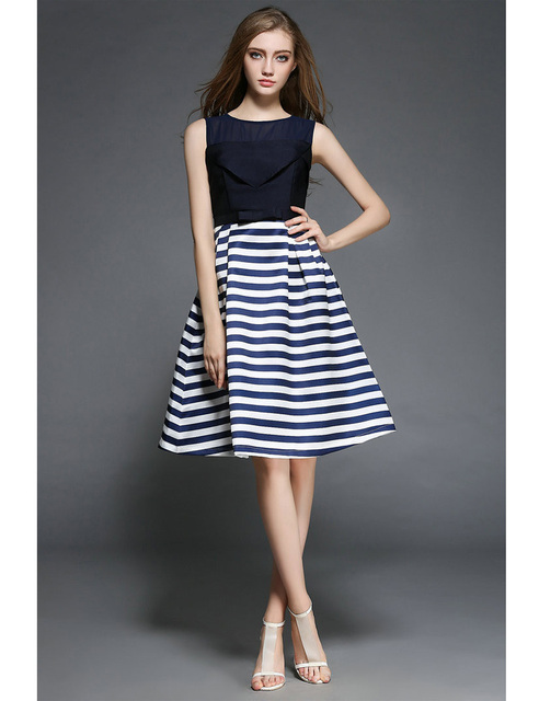 Blue dress knee length casual dresses | Fashion dresses lab