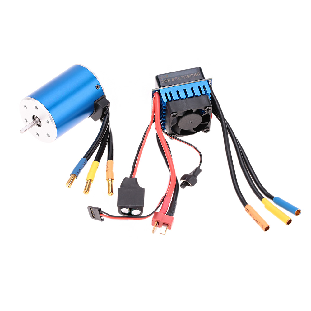 Best Selling 3650 3100KV/4P Sensorless Brushless Motor with 60A Brushless ESC Electric Speed Controller for 1/10 RC Car Truck(China (Mainland))