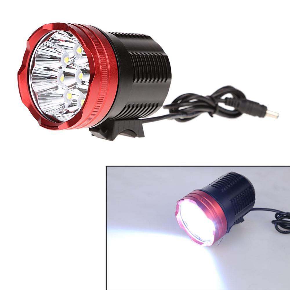 Фотография 15000 Lumen 9x CREE XM-T6 LED Head Front Lamp Bicycle Bike Light Lamp 20000mAh Rechargeable Bicycle Handbar Lights BHU2