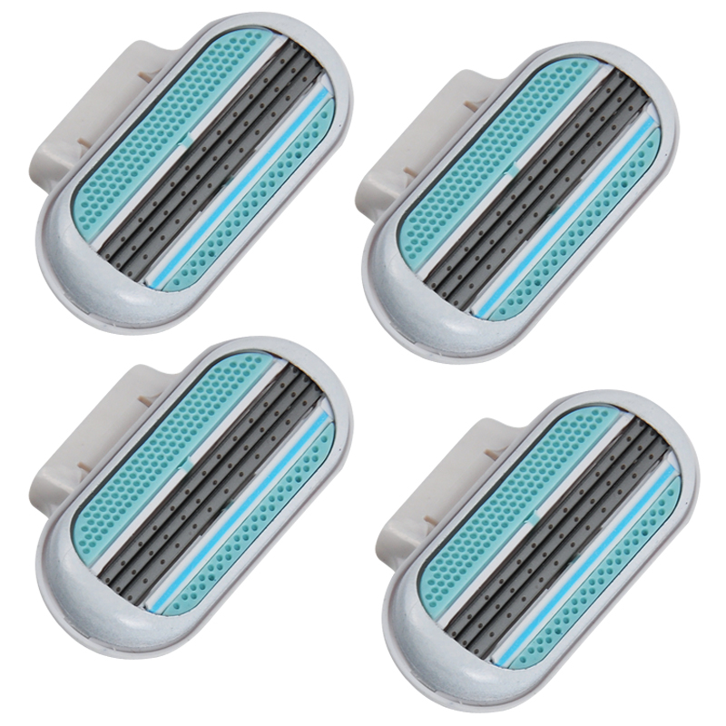 4pcs/lot AAAAA Shaving Razor Blade Grade Shaving Razor Blades For Women