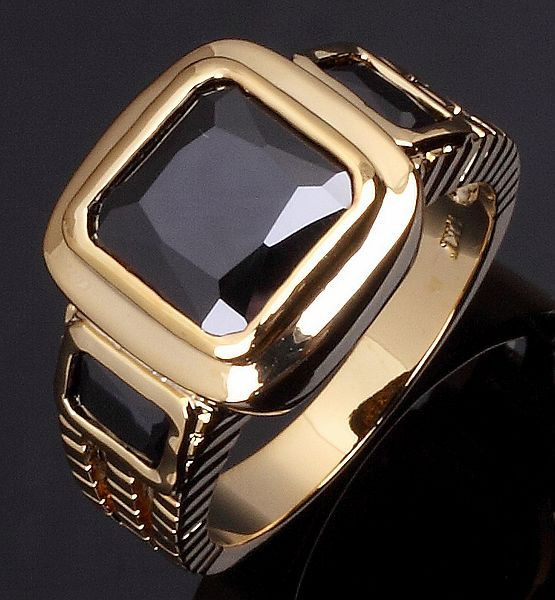 Wholesale Fashion AAA zircon Jewelry free shipping Size 8 to 12 Male Black Sapphire rings 18K Gold Filled men finger Ring R048(China (Mainland))